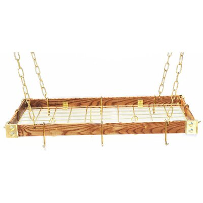 Gourmet Wood Hanging Pot Rack