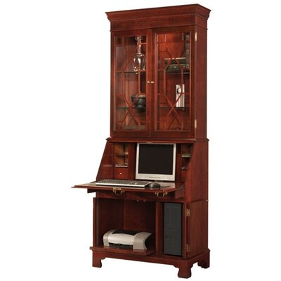 Jasper Cabinet Sterling Computer Secretary Desk with Hutch
