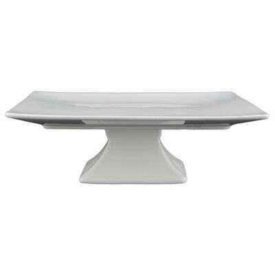 Tannex White Tie Square Pedestal Cake Stand