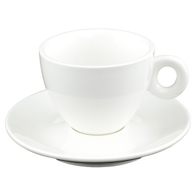 Tannex White Tie Coffee/Cappuccino Cup and Saucer