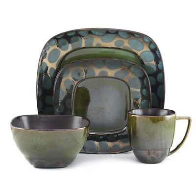 Tannex Stone 16 Piece Dinnerware Set