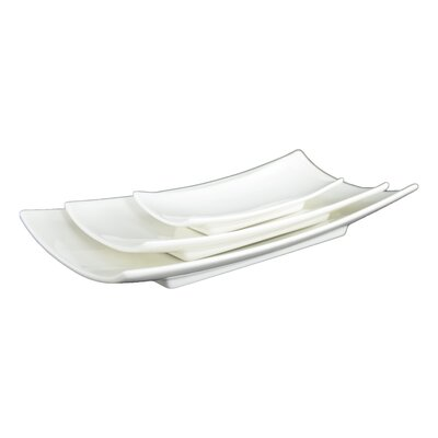 "Tannex Du Lait 5.7"" Rectangular Mini Plate (Set of 4)"