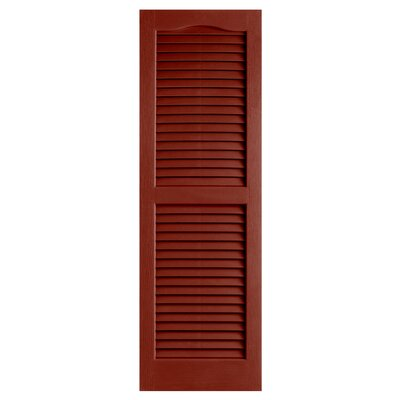 "Alpha Shutters Exterior 14"" x 25"" Louvered Shutter (Set of 2)"