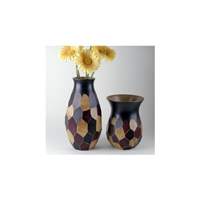 Modern Day Accents 2 Piece Faceted Vase Set
