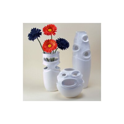 Modern Day Accents 3 Piece Pierced Vase Set (Set of 3)