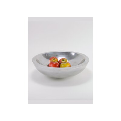 Modern Day Accents Aluminum Round Heavy Bowl