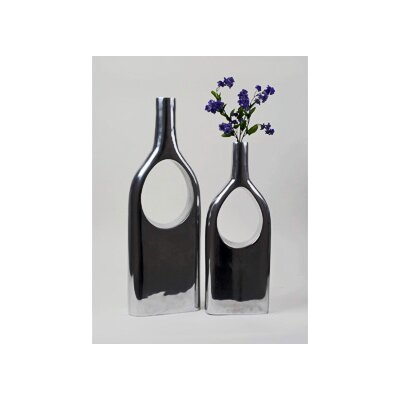 Modern Day Accents Aluminum See Thru Bottle (Set of 2)