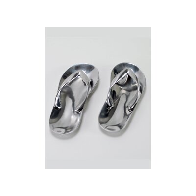 Modern Day Accents Aluminum Sandals Sculpture (Set of 2)