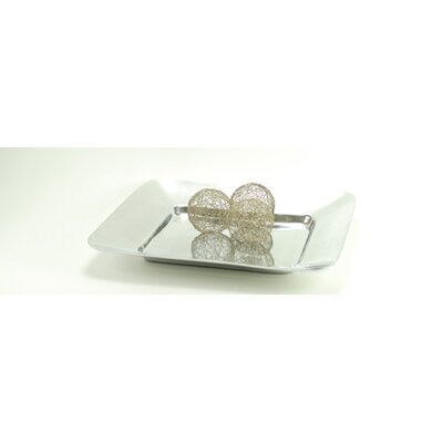 Modern Day Accents Aluminum Square Wide Border Tray