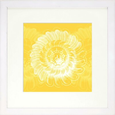 Vibrant Living Lemon Rosette Framed Wall Art