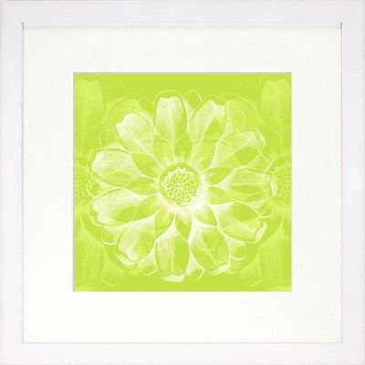 Vibrant Living Rosette Framed Graphic Art