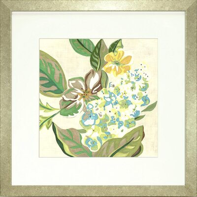 Floral Living Modern Chintz 4 Framed Graphic Art
