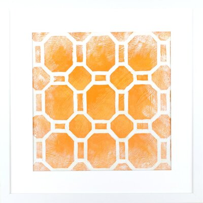 Indigo Avenue Modern Living Modern Symmetry I Framed Graphic Art in Terracotta and White
