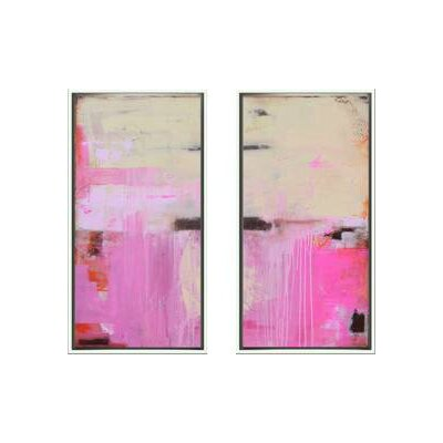 Indigo Avenue Modern Living Sweet Emotion Diptych Framed Wall Art