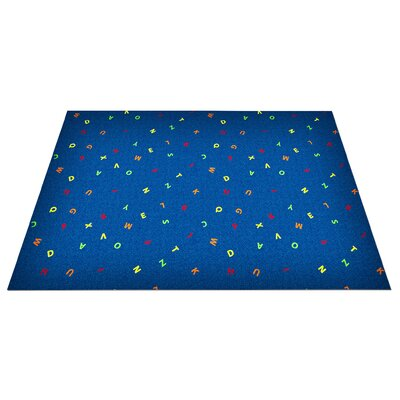 KidCarpet.com Scattered Letters Kids Rug