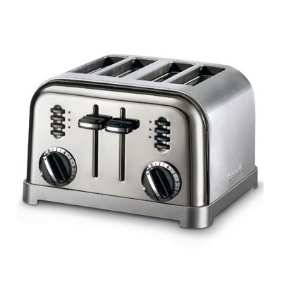 Black Appliances Classic 4-Slice Toaster