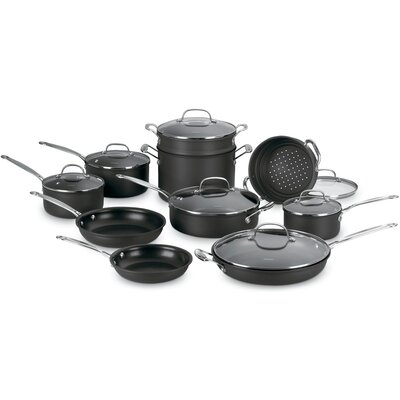 Cuisinart Chef's Classic Nonstick Hard Anodized 17-Piece Cookware Set