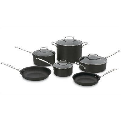 Chef's Classic Nonstick Hard-Anodized 10-Piece Cookware Set