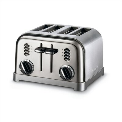 Cuisinart Metal Classic 4-Slice Toaster in Black and Stainless