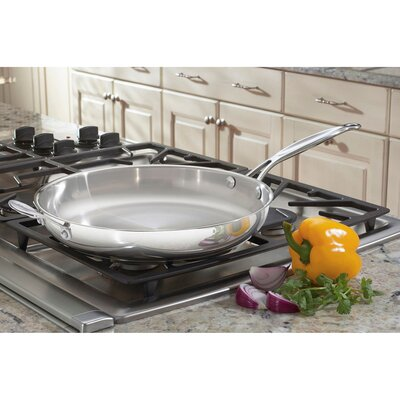 """Cuisinart Chef's Classic Stainless Steel 12"""" Skillet"""