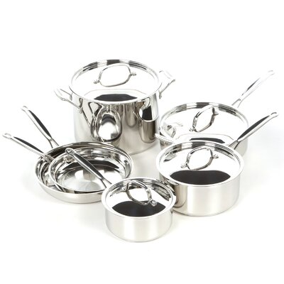 Chef's Classic Stainless Steel 10-Piece Cookware Set