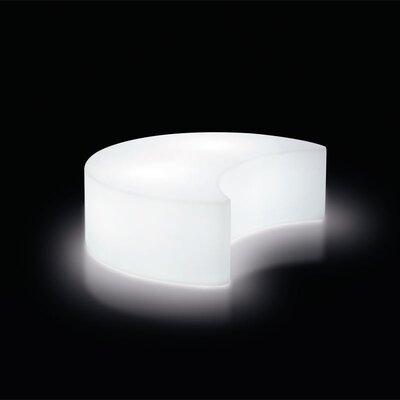 Slide Design Moon Polyethylene Garden Bench