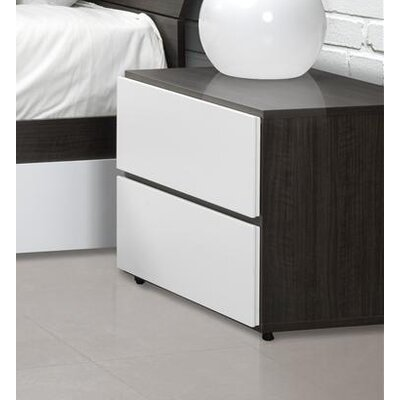 Nexera Allure 2 Drawer Nightstand
