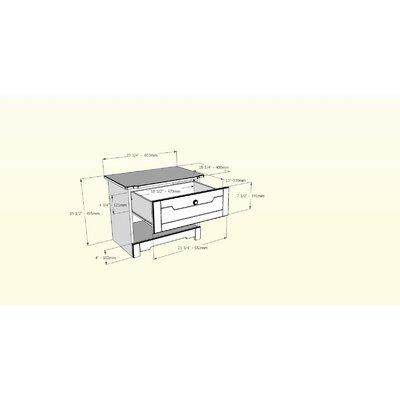 Nexera Dixon 1 Drawer Nightstand