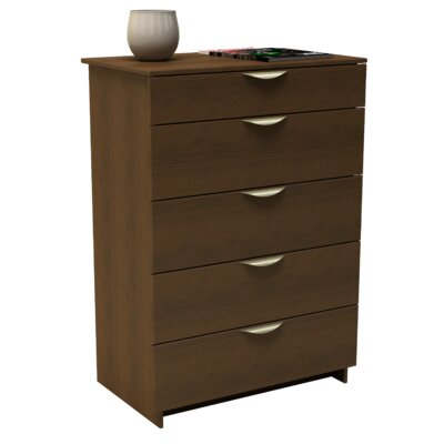 Nexera Nocce Truffle 5 Drawer Chest