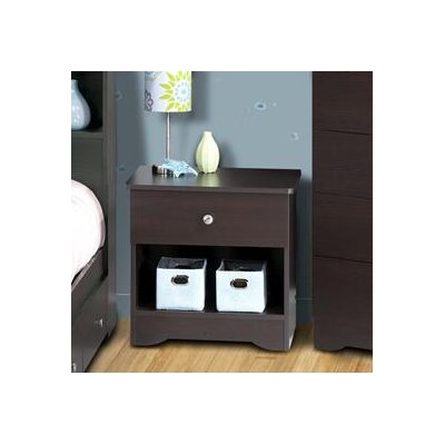 Nexera Pocono 1 Drawer Nightstand