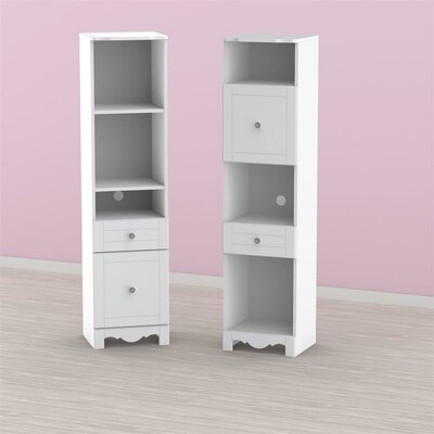 Pixel Tall Bookcase Tower in White