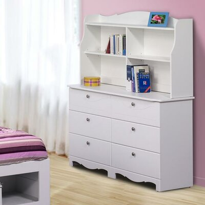 Nexera Pixel 6 Drawer Double Dresser