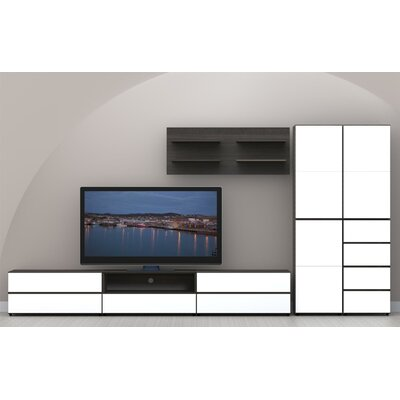 "Nexera Allure 36"" Storage Cabinet in White and Ebony with 2 Drawers"