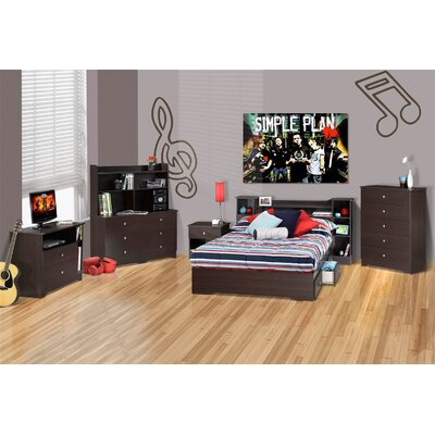 Nexera Pocono 6 Drawer Double Dresser in Espresso Laminate