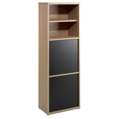 Infini-T Two Door Bookcase in Biscotti and Espresso