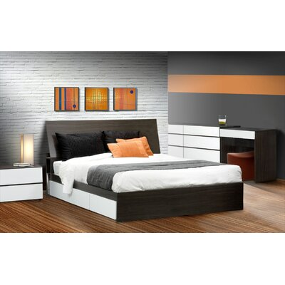 Nexera Allure Platform Bedroom Collection