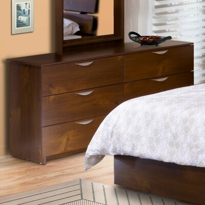 Nexera Nocce Truffle Double 6 Drawer Dresser
