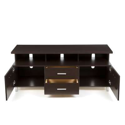 Nexera Element Entertainment Center with Wide Satellite Unit in Espresso