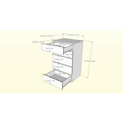 Nexera Avenue 5 Drawer Chest