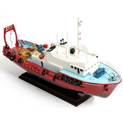 Old Modern Handicrafts Mermaid Supporter New Model Boat
