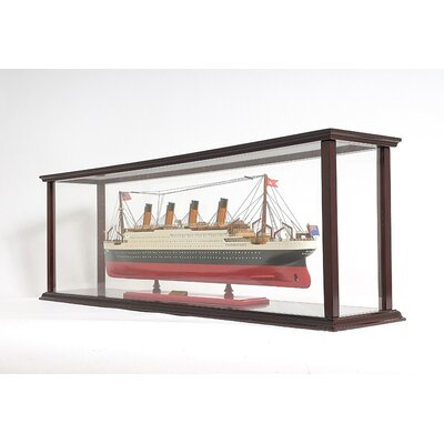 Old Modern Handicrafts Display Case For Cruise Liner Mid