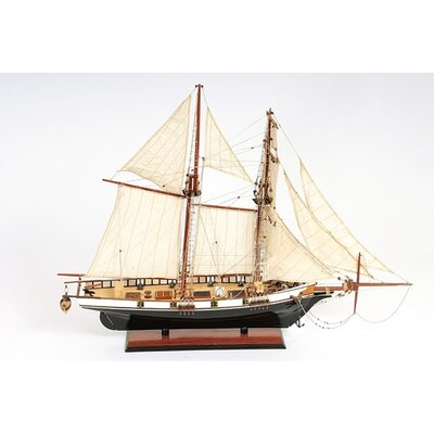 Old Modern Handicrafts Harvey Painted Yacht