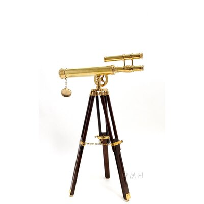 "Old Modern Handicrafts 18"" Telescope with Stand"