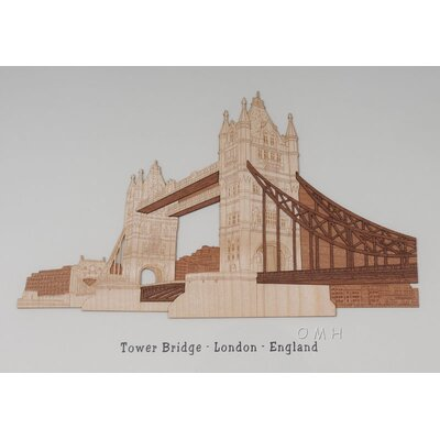 Old Modern Handicrafts London England Tower Bridge Veneer Art