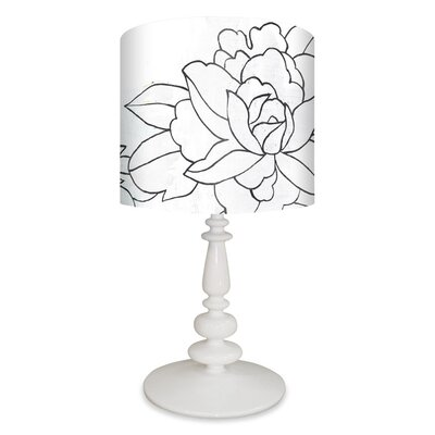 GreenBox Art Flower Triptych Table Lamp