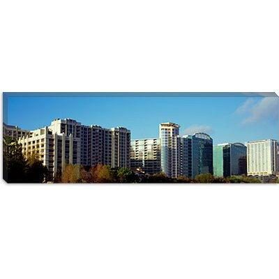 iCanvasArt Skyscrapers in a City, Lake Eola, Orlando, Orange County, Florida Canvas Wall Art