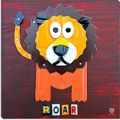 iCanvasArt Roar the Lion From Design Turnpike Collection Canvas Wall Art