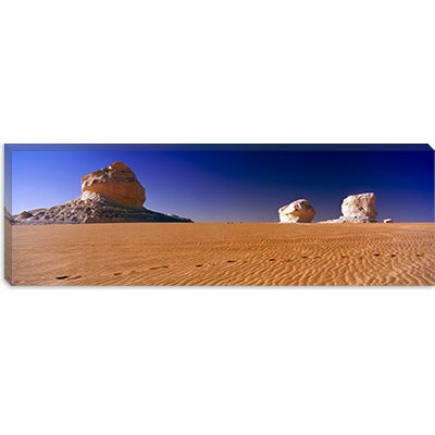 iCanvasArt Rock Formations in a Desert, White Desert, Farafra Oasis, Egypt Canvas Wall Art