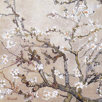 iCanvasArt 'Almond Branches' by Vincent Van Gogh Painting Print on Canvas