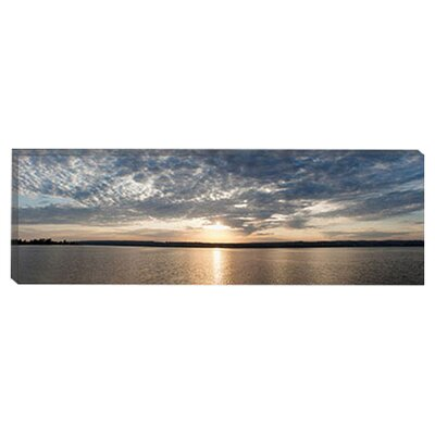 "<strong>iCanvasArt</strong> ""L'Anse Bay Panorama, Baraga, Michigan '11"" Canvas Wall Art by Monte Nagler"